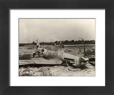 """10633224 23""""x19"""" (58x48cm) Framed Print Messerschmitt Bf109E-4 of..."""