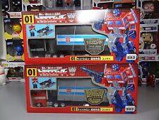 Transformers G1 Takara Reissue Optimus Prime 01 Regular + Black Version *Rare*