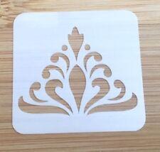 Face paint stencil reusable washable small tiara  Mylar 4.5 x 4.5 cm