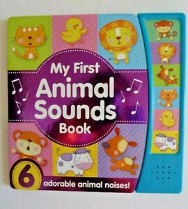 Multiple sound Books My First Animal with 6 Noisy Baby Animal sounds new