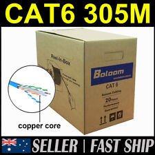 305m Blue Awg23 Solid Copper Network Cat 6 Cat6 Network LAN Cable