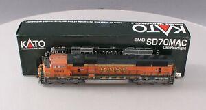 Kato 37-6381 HO Custom Painted/Weathered BN SD70MAC Diesel Locomotive #9840 EX