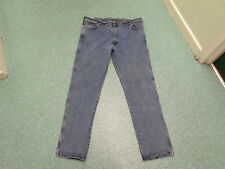 "Wrangler Texas Stretch Jeans Waist 42"" Leg 34"" Faded Dark Blue Mens Jeans"