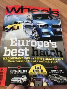 WHEELS Car magazine RS265 M135i  MP4 12C A3 LS600H IS250 X1 7 77 MX5 S7 CLS 650i