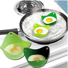 Grün Eierkocher aus Silikon Nontoxic hochwarmfest Ei-Tablett Omelett Backform