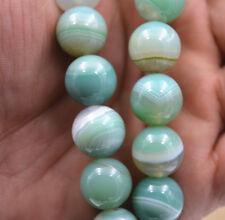 Stripe Agate Onyx Round Loose Bead 15''New 12mm
