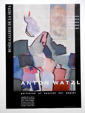 WATZL Anton Affiche originale Musée Seita Peintures KLEINMÜNCHEN ÖSTEREICHISCHER