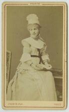 """CDV 1877 Franck à Paris. La soprano Mily-Meyer dans l'opérette """"Le Petit Duc""""."""