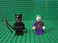 Lot 2 Lego DC Super Heroes Batman Villain minifigures minifigs CATWOMAN JOKER