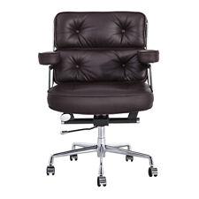 Swivel Executive Chair Office Chair Genuine Leather Aluminium Base Adjustable