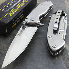 "7"" TAC FORCE EDC MIRROR BLADE SPRING ASSISTED TACTICAL FOLDING KNIFE Assist Open"