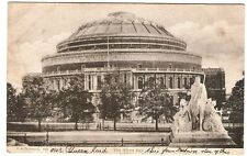 The Albert Hall London. 30th August 1905 By F. G. O. Stuart Card No 862.