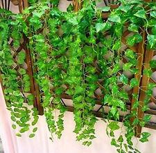 Artificial Plastic Ivy Leaf Garland Fake Foliage Flowers Home Xmas Wedding Decor