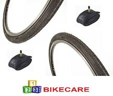 Pair Of Black 24x1 3/8 Bike Road Tyres With Tyre Tubes vc-5216-1