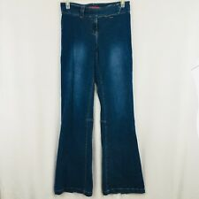 Hot Kiss Boot Cut Jeans Zipper Ankle Medium Blue Faded Wash Juniors Size 15