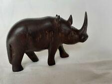 More details for vintage ebony rhinoceros, lusaka, zambia '82, 3.5