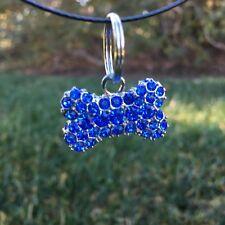 Swarovski Crystal - Sapphire/Blue Bone Shape Charm
