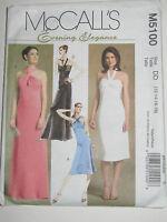 McCalls Sewing Pattern UNCUT 5100 Chic * Evening Dress * Size 12 14 16 18