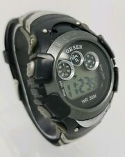 Ohsen Para Hombre Multi función Reloj con correa de plástico negro ** ** Batería Nueva A4