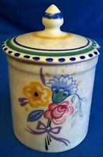 POOLE POTTERY CARTER STABLER ADAMS 1920's TRADITIONAL DO PATTERN JAM POT