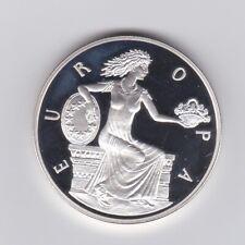 EURO Vorläufer 1998 - Andorra Silbermünze - Europa mit Blumenkorb
