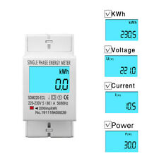 80A Single Phase Two Wire LCD Digital Display Power Consumption Energy Meter