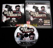 DEAD TO RIGHTS RETRIBUTION Ps3 Versione Italiana 1ª Edizione ••••• COMPLETO