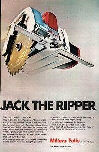 """1969 Millers Falls Tools Circular Saw """"Jack the Ripper"""" Original Color Ad"""