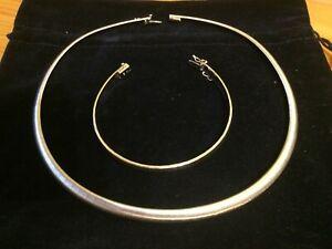 Collier und Armband Platin