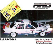 DECAL/CALCA 1/43; Ford Sierra Cosworth; Delecour-Grataloup; Rally SanRemo 1992