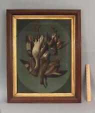 19thC Antique HAL MORRISON Game Bird Shorebird Hunting Still Life Oil Painting