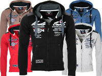 Geographical Norway Herren Sweatjacke Sweatshirt übergangsjacke Jacke sweat