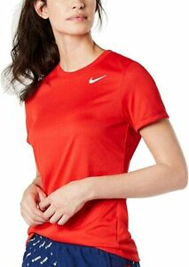 Nike Womens Dri-Fit Legend Tee Crew AQ3210-658 University Red | White xs
