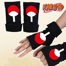 Anime Naruto Sasuke Logo Half Finger Glove Cotton Mitten Cosplay Winter Gift New