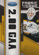 11-12 Certified Fabric Of The Game xx/25 Made! Tim THOMAS #15 - Bruins