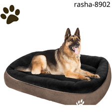 New listing Cloudzone Dog Bed, Washable with Soft Coral Fleece and Non-Slip Bottom, Khaki