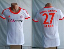 WOMEN SHIRT BAYERN MUNICH #27 ALABA 2012 2013 AWAY FOOTBALL JERSEY SHIRT ADIDAS