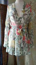 Silk Long Sleeve Floral Lingerie & Nightwear for Women