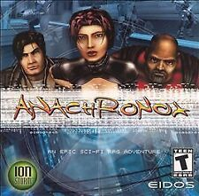 Anachronox PC cyberpunk role-playing RPG GAME + ARTWORK CASE + FREE SHIPPING