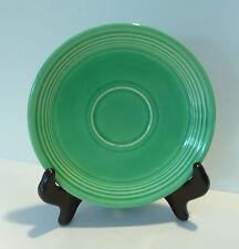 "Vintage Homer Laughlin Genuine FIESTA Green Glaze Saucer, Cup Plate, 6 1/8"""