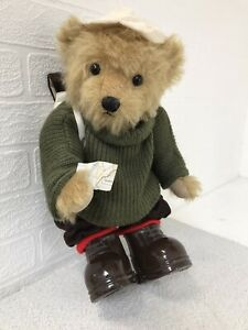 Dean's Rag Book Teddy Bear Limited Edition No: 347 Brown Dressed Bear Jointed