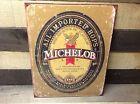 Michelob Lager Imported Beer Metal Sign Tin Vintage Garage Bar Decor Old Rustic