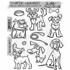 Tim Holtz Cling Mount Stamps: Crazy Dogs