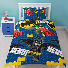 LEGO BATMAN MOVIE HERO ROTARY DC COMICS SINGLE DUVET SET QUILT COVER KID BEDROOM