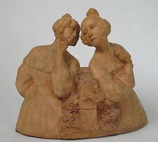 Gaston Hauchecorne 1880 - 1945. French terracotta tête-à-tête sculpture