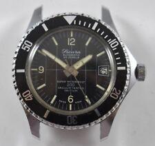 VIntage Extra Rare Sicura 25 Jewels Diver 200 Vacuum Tested Tritium Watch LOT#4