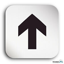 "Aluminium Schild ""Pfeil"" 150 x 150 mm • Privat • Richtung • Türschild • Alu  •WC"