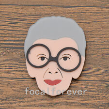 Cartoon Old Grandma Brooch Pin Costume Collar Lapel Pin Jewelry Granny Gift