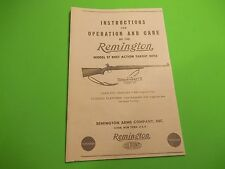 Remington Model 37 RANGEMASTER Instructions for Operation and Care