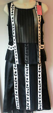 NEW 100% SILK WHISTLES Black/White SUIT (SKIRT & TOP) UK 10 RRP £180